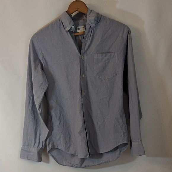 J. Crew Other - Blue pinstripe Fitted Button Down Dress Shirt sz S